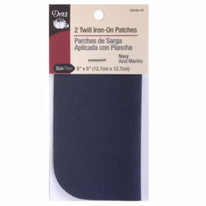 Dritz Navy Twill Iron-on Patches S-55240-3T
