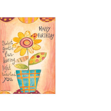 Happy Birthday flower card.