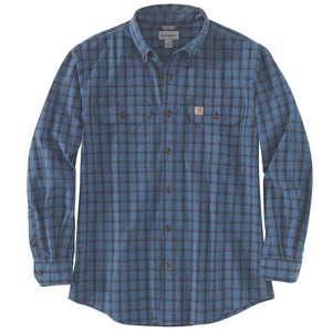 Dark blue plaid shirt