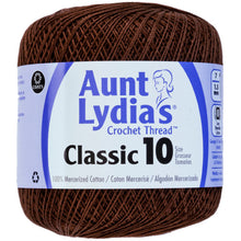 Fudge Brown Aunt Lydia's crocheting thread.