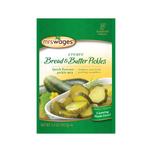 Mrs. Wages Bread and Butter pickle mix package