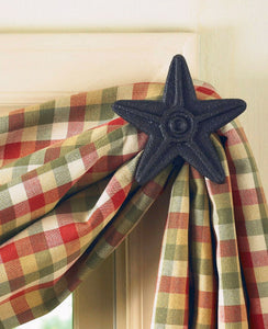 Black Metal Star Curtain Hook