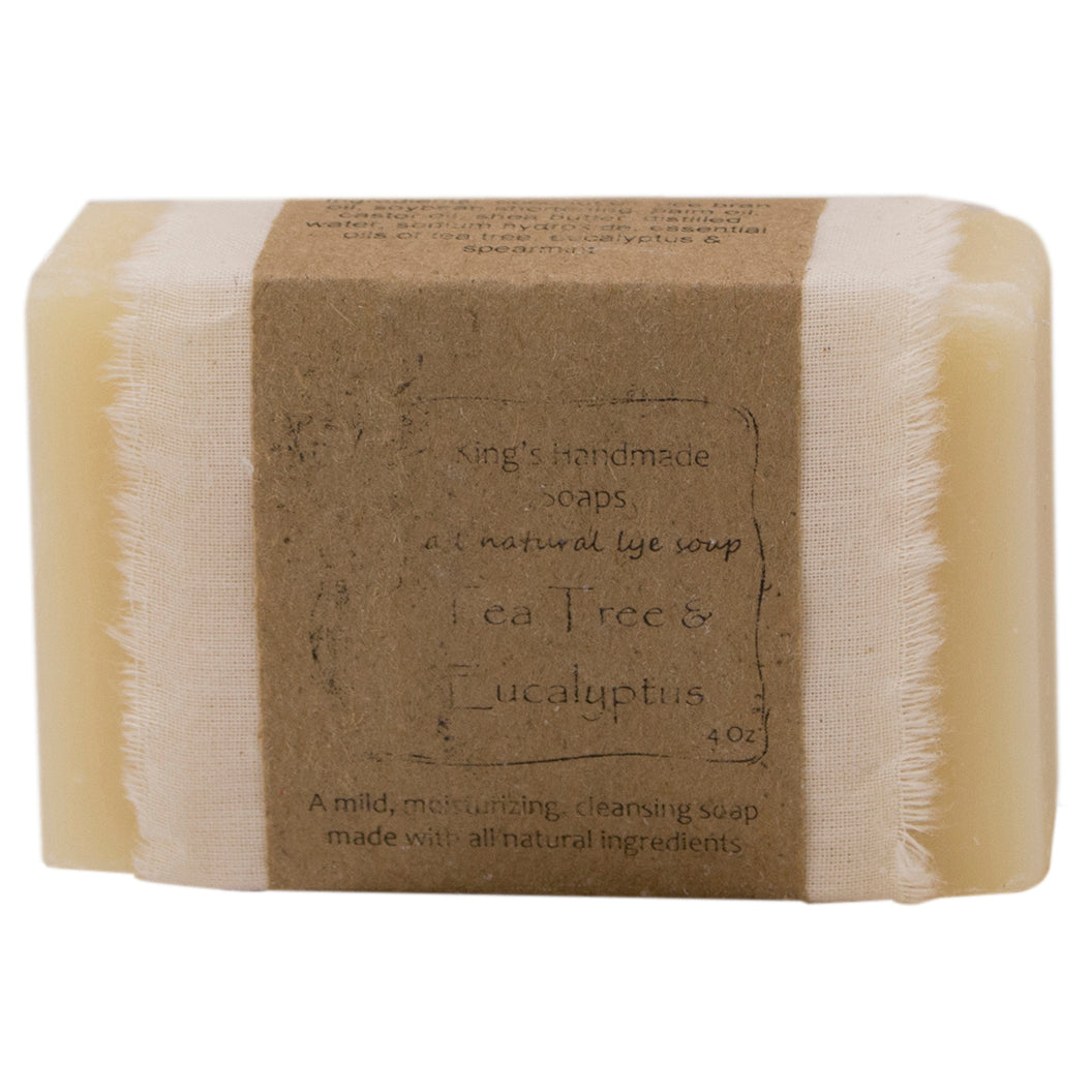 Tea Tree Oil and Eucalyptus bar soap.