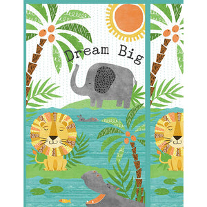 Dream Big fabric panel