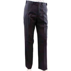 Black wool blend dress pants