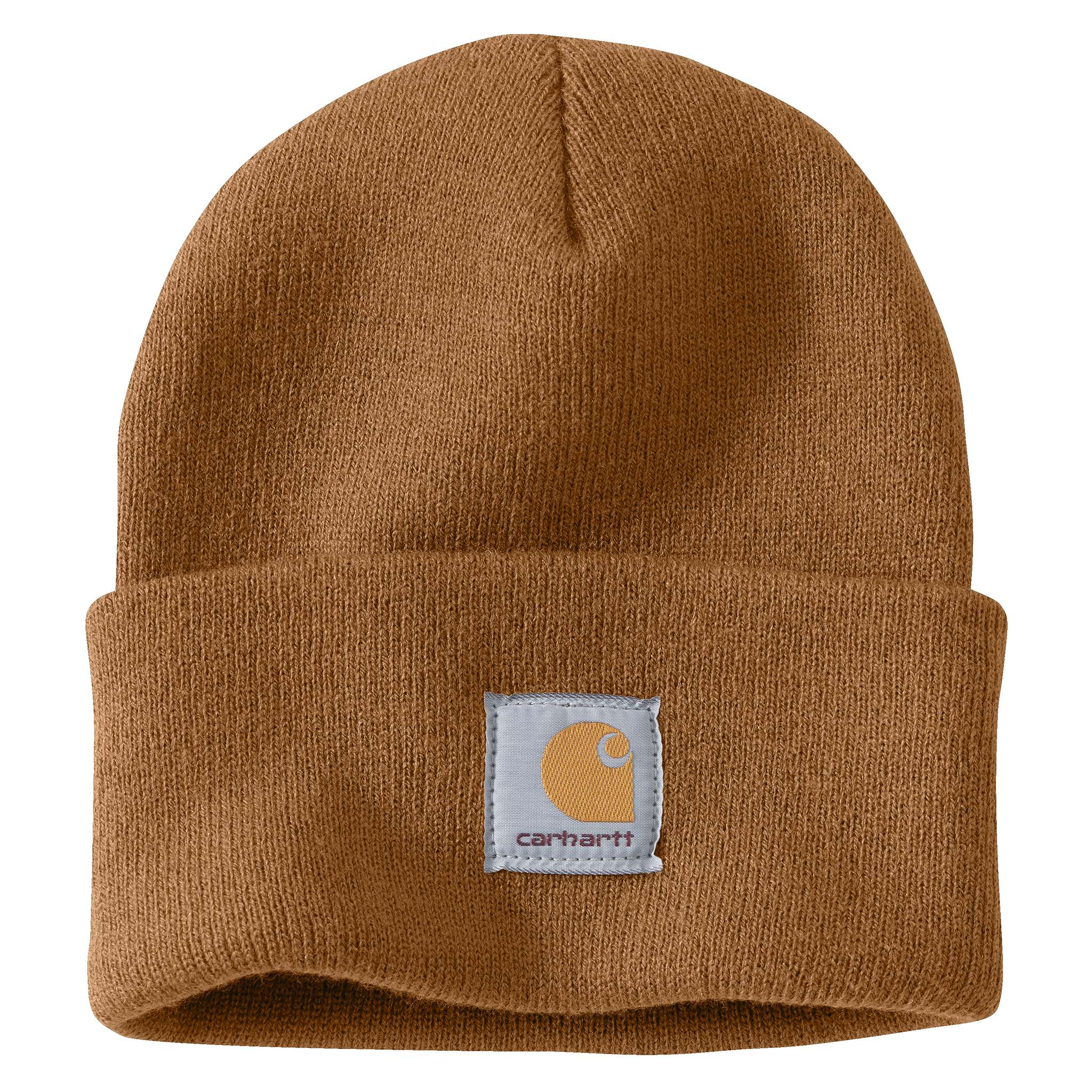 ... Carhartt Brown Carhartt beanie with Carhartt label stitched on front ... e29959986ae