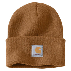 Carhartt Brown Carhartt beanie with Carhartt label stitched on front