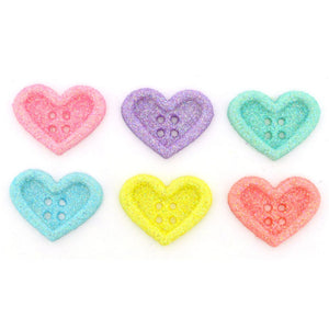 Candy Hearts buttons