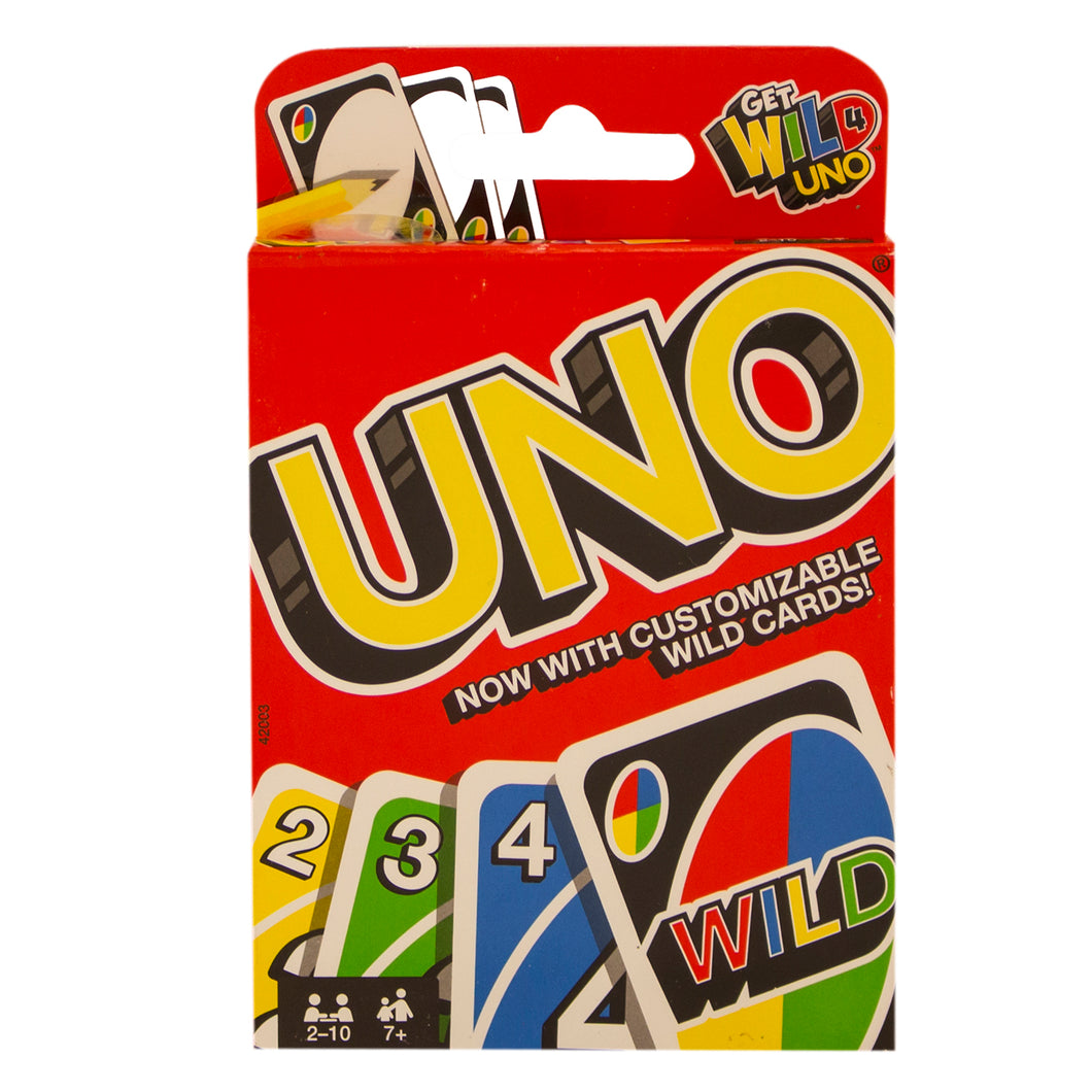 A pack of UNO cards.
