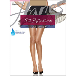 Hanes Silk Reflections Panty hose Little color.