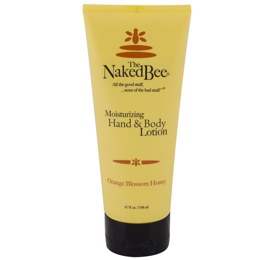 Tube of The Naked Bee Orange Blossom Honey hand & body lotion.