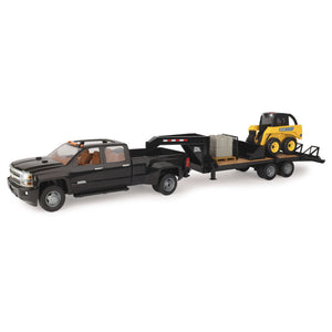 1:16 Scale Big Farm Chevy Truck with Trailer & John Deere Skid Loader 46482