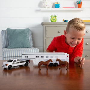 1:32 Ford F-350 Pickup with Horse Trailer & Livestock 46800