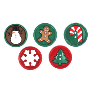 Christmas buttons.