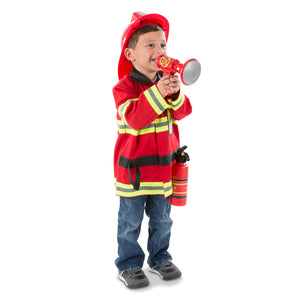 Child playing fire chief