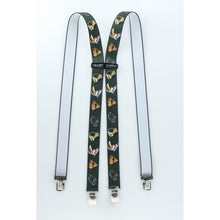 Horses on olive color suspenders
