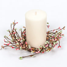 Mint, Pink, Tan Rice Berry Candle Ring.