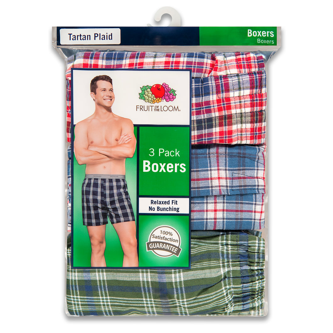 Fruit of the Loom Men's Boxers shorts, pack of 3.