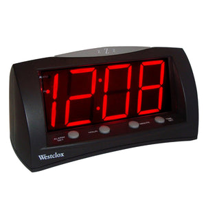 Westclox LED Large Display Alarm Clock