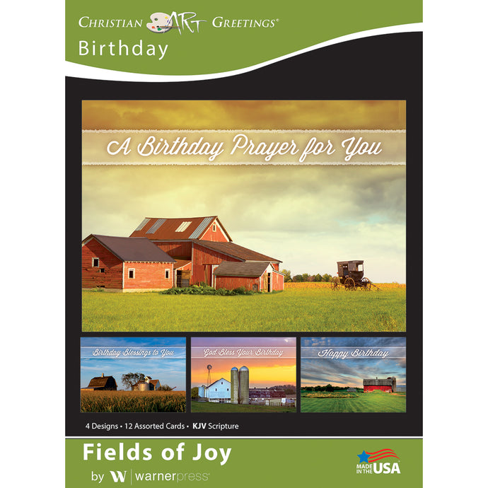 Fields of Joy Boxed Birthday cards
