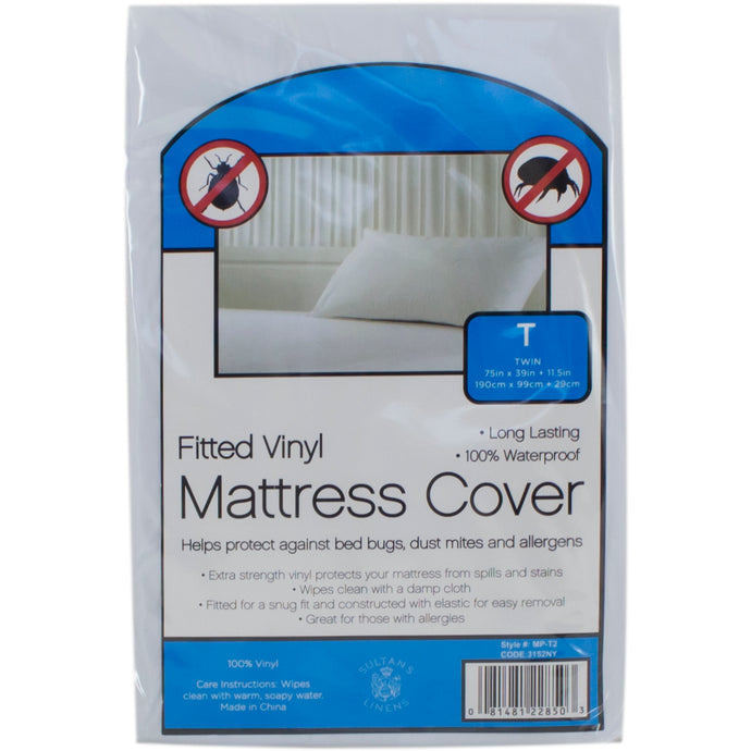 Fitted vinyl mattress protector