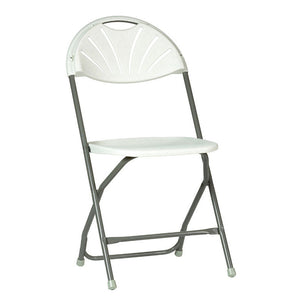 Folding chair set up.