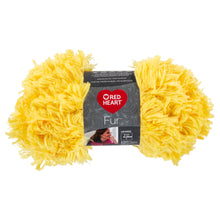 Lemon drop Red Heart furry yarn