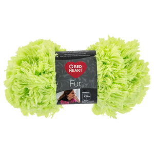 Lime Red Heart furry yarn