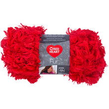 Cherry Red Heart furry yarn