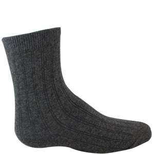 Charcoal gray dress sock