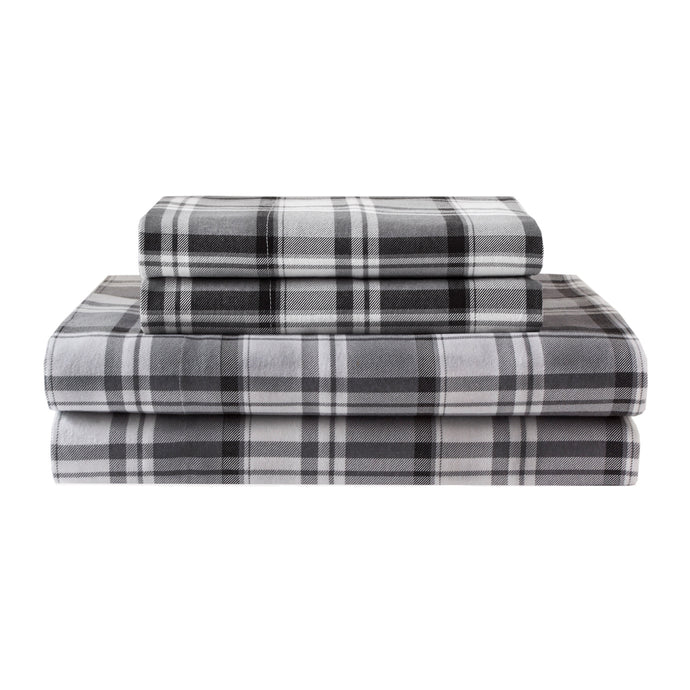 Gray plaid sheets
