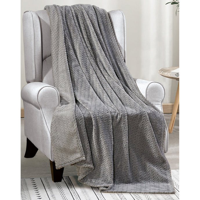 Gray plush blanket