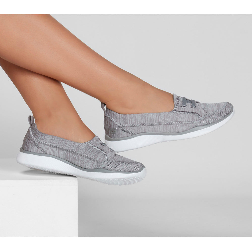 Gray slip-on shoes