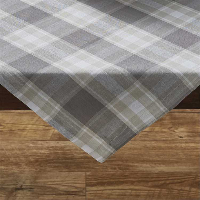 Gray plaid table topper
