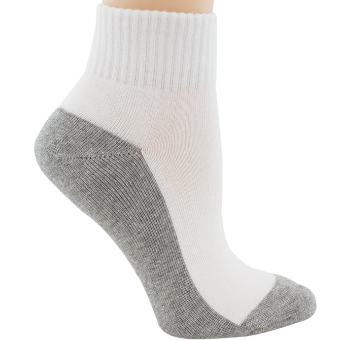 Gray and white sock