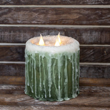 Green frosted LED Candle