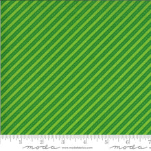 Green striped fabric