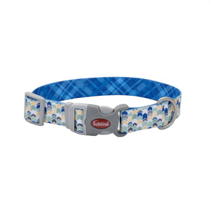 Green yellow and blue dog collar