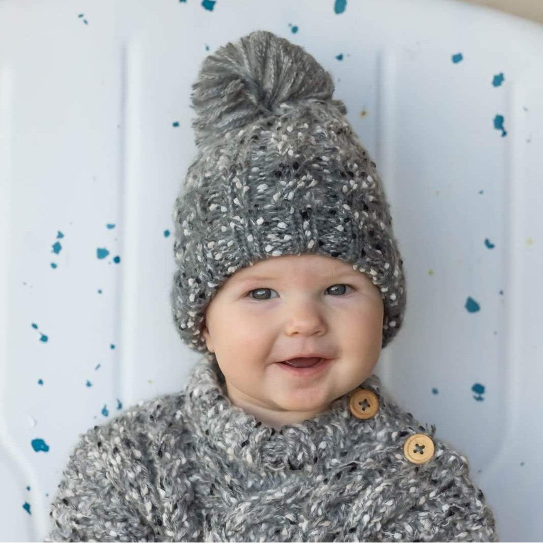 Baby Grey Tweed Beanie Hat 1040