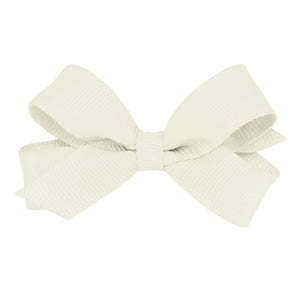 Antique white hair bow