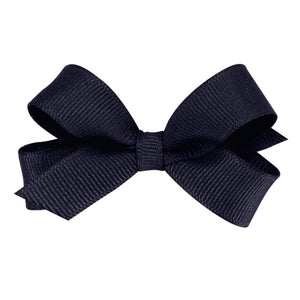 Navy blue hair bow