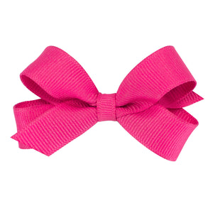 Shocking pink hair bow