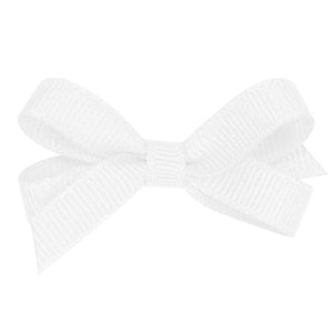 White infant hair bow