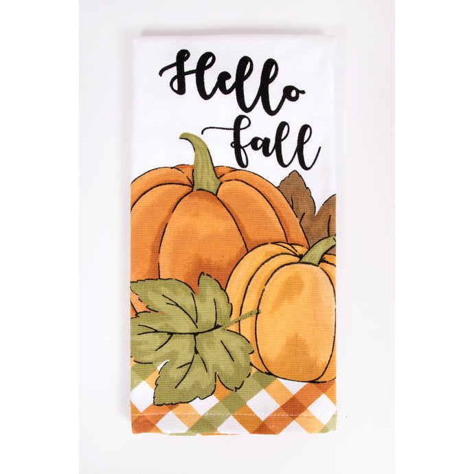 Hello Fall kitchen towel