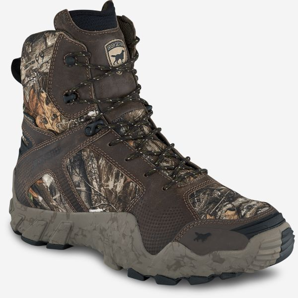Men's camo leather hunting boot