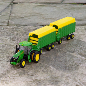 Toy tractor and wagon set