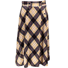 Khaki plaid skirt