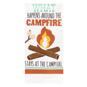 Campfire kitchen towel