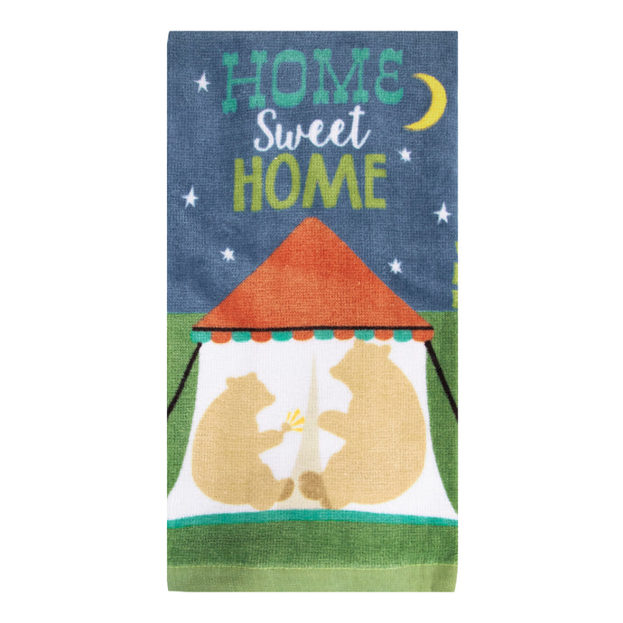 Home Sweet Home Tent kitchen towel