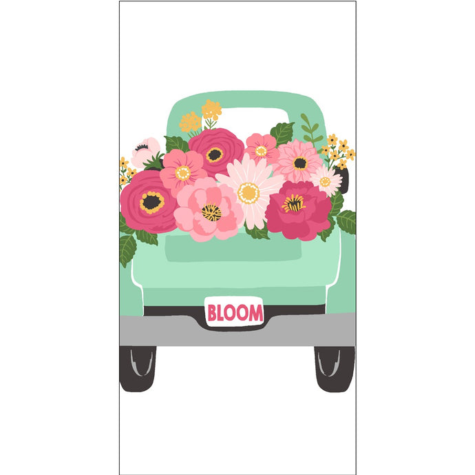Floral truck towel